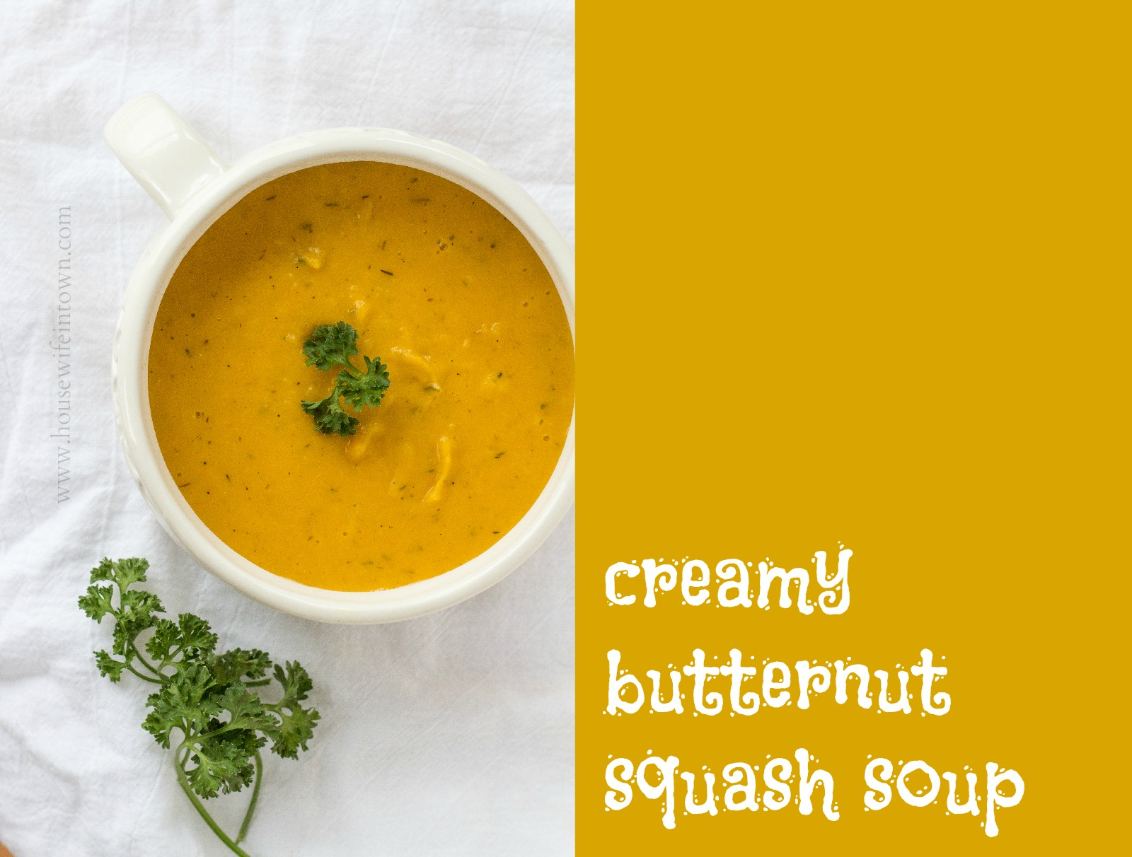 Pete and Buzz: roasted butternut squash soup