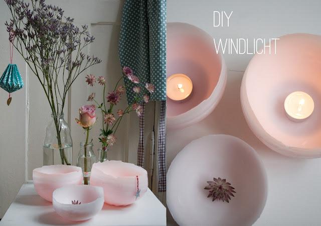 DIY Windlicht aus Wachs Wachsschale Teelicht