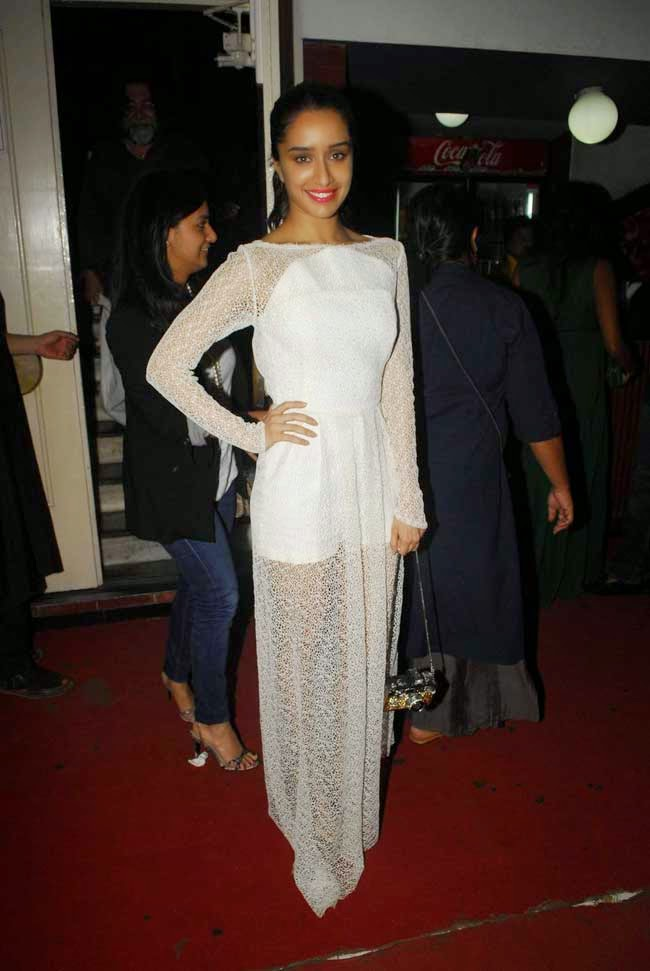 Shraddha Kapoor At Kill Dil Movie Screening