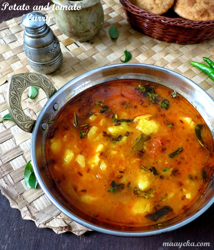 potato and tomato curry