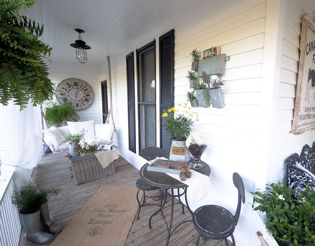 Laurieanna 39 s vintage home back door guests are best for Farmhouse porch swing
