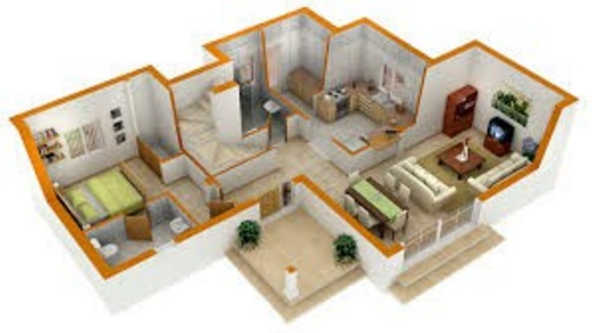 3D Floor Modern On Unique 4