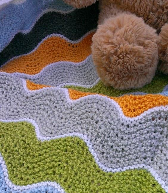 Garter Ripple Squish blanket