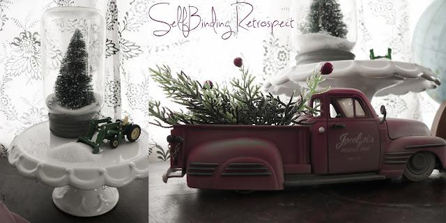 mason jar craft, mason jar, maon jar christmas trees, mason jar christmas, christmas craft, vintage truck, toy truck, toy tractor