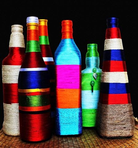 Hand crafted Bottle Vases by jayaonline