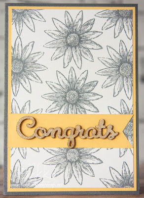 Grateful Bunch Congratulations Card Made Using Supplies from Stampin' Up! UK