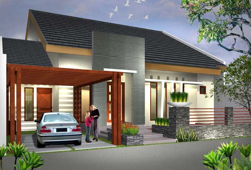 Desain Rumah 1 Lantai Minimalis Tampak Elegan