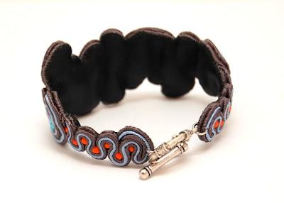sutasz bransoletka  soutache bracelet 6a