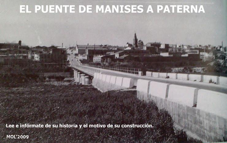 06.09.15 EL PUENTE DE MANISES A PATERNA, HISTORIA DE UNA NECESIDAD