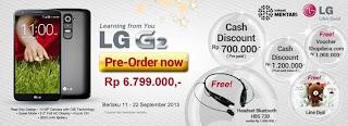 Harga LG G2 dan promo diskon hingga Rp 1.200.000