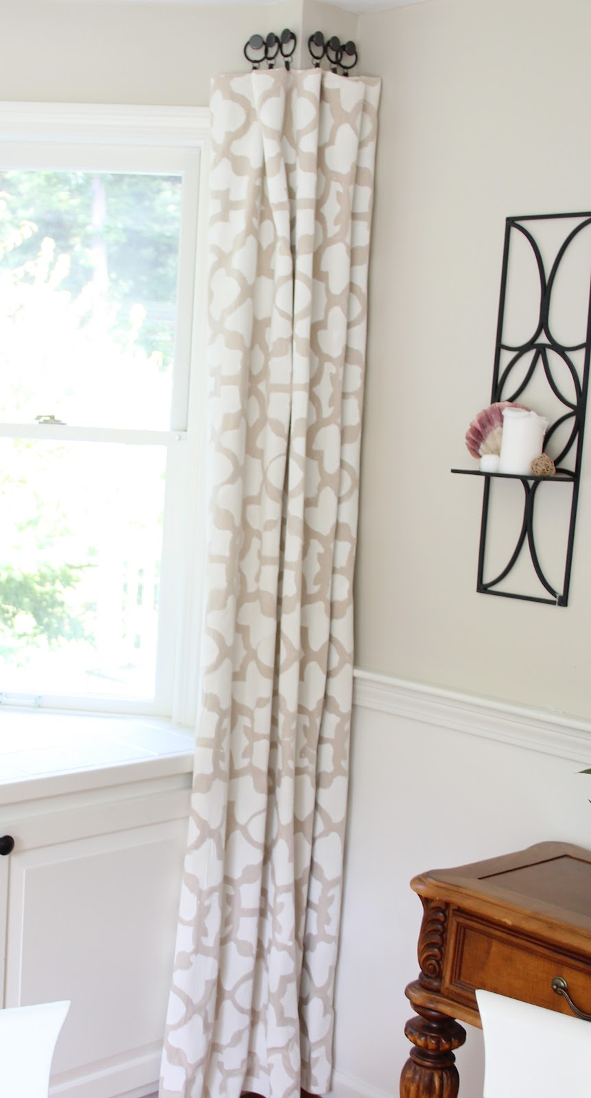 Drop Cloth Curtains Tutorial Stenciled Drop Cloth Curtain Tutorial Shine Your Light