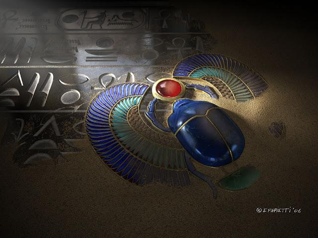 escarabajo sagrado egipcio