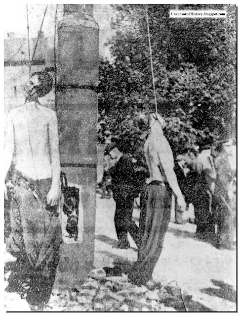 Germans hanged Czechoslovakia 1945