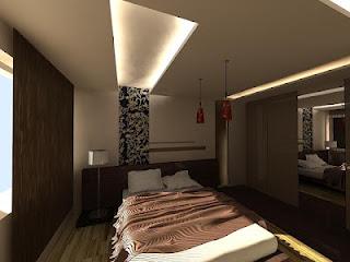 habitación color marrón y beige