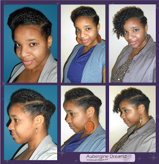 two strand twists, flat twists, twist out