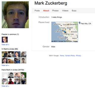 mark zuckerberg google