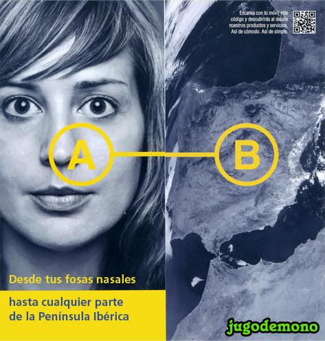 Correos: Desde tus fosas nasales hasta cualquier parte de la Península Ibérica. jugodemono
