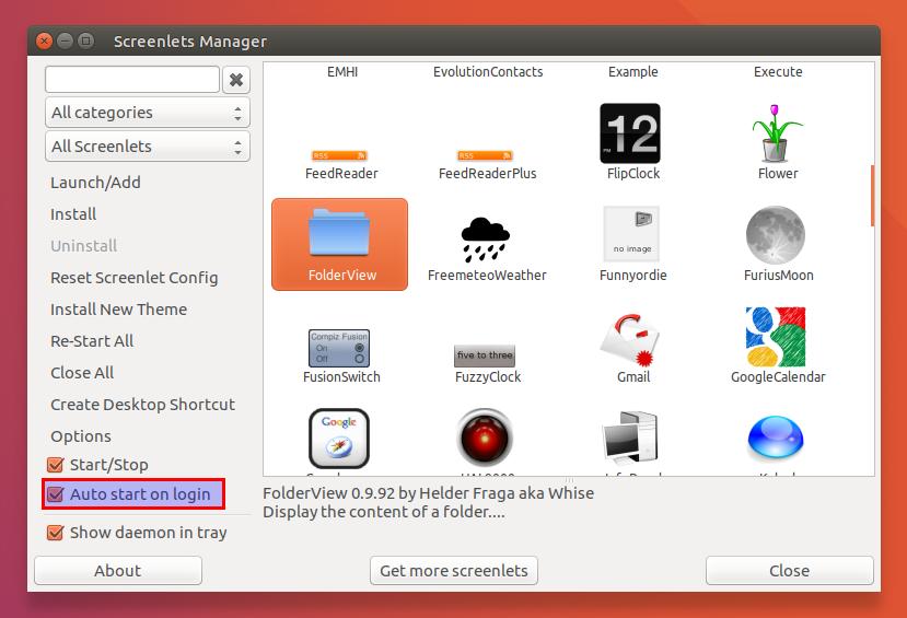 Screenlets (desktop widgets) fixed for ubuntu 1604, available in ppa