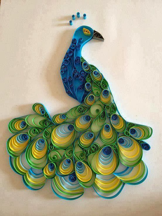Paper Roll Peacock