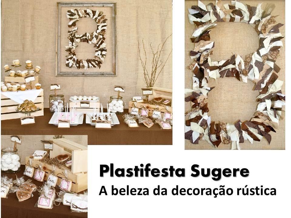 decoracao festa rustica:Plasti Festa: Decoração rústica