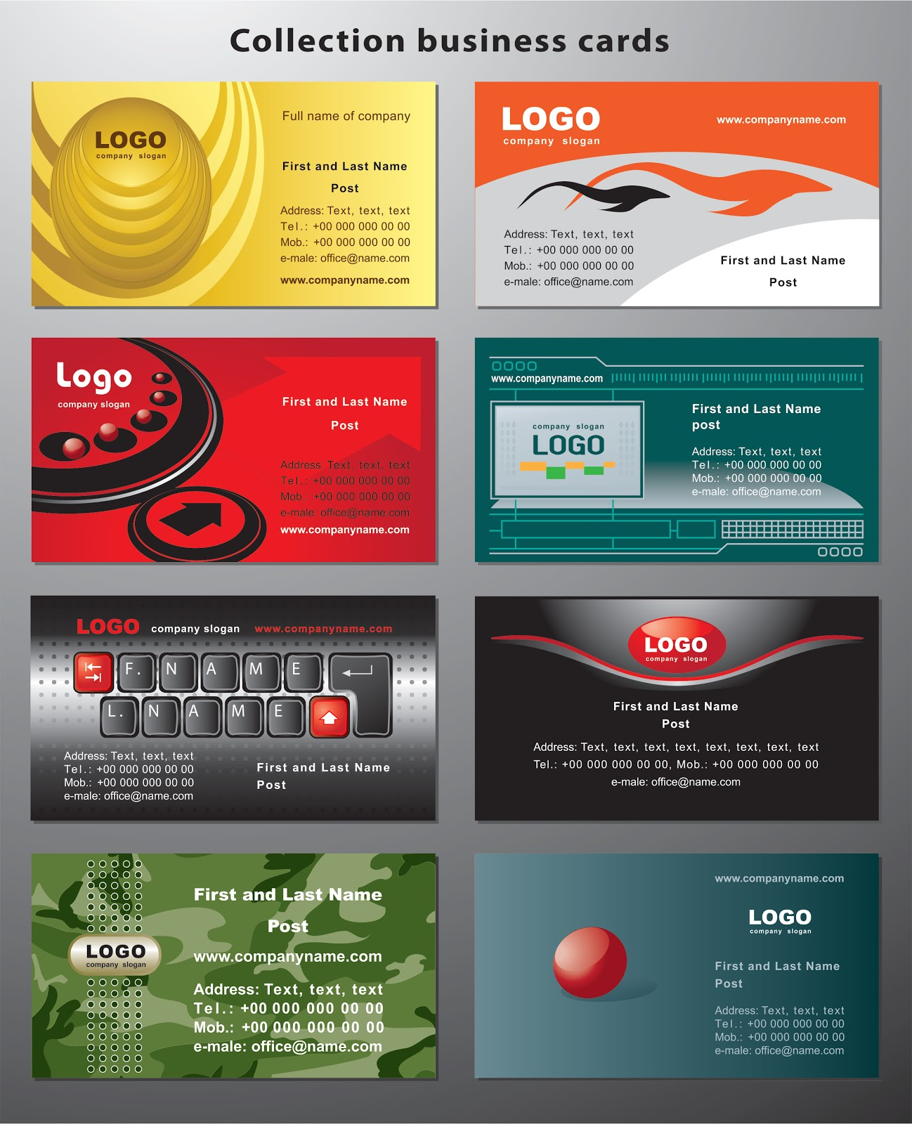 Collection Business Cards Cdr