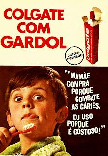 propaganda creme dental Golgate - 1970. Reclame 1970; 1970; história da década de 70; propaganda nos anos 70; reclame anos 70; Brazil in the 70s; Oswaldo Hernandez;