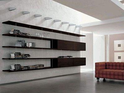 Estantes modernos para sala parte 2 for Muebles de sala de estar modernos