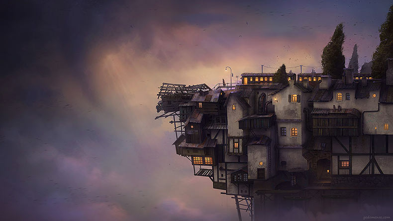Mundos surrealista pintado digitalmente por Gediminas Pranckevicius
