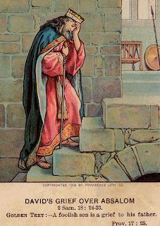 David's grief over Absalom - Artist unknown