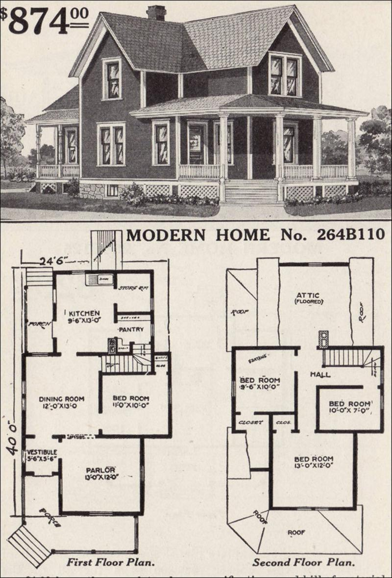 My model railroad scratch building a 1916 sears catalog home for Farmhouse building plans