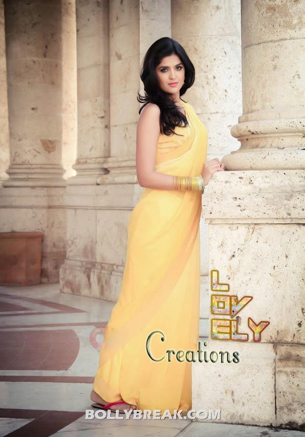 Deeksha seth in yellow sari - Deeksha seth wallpapers