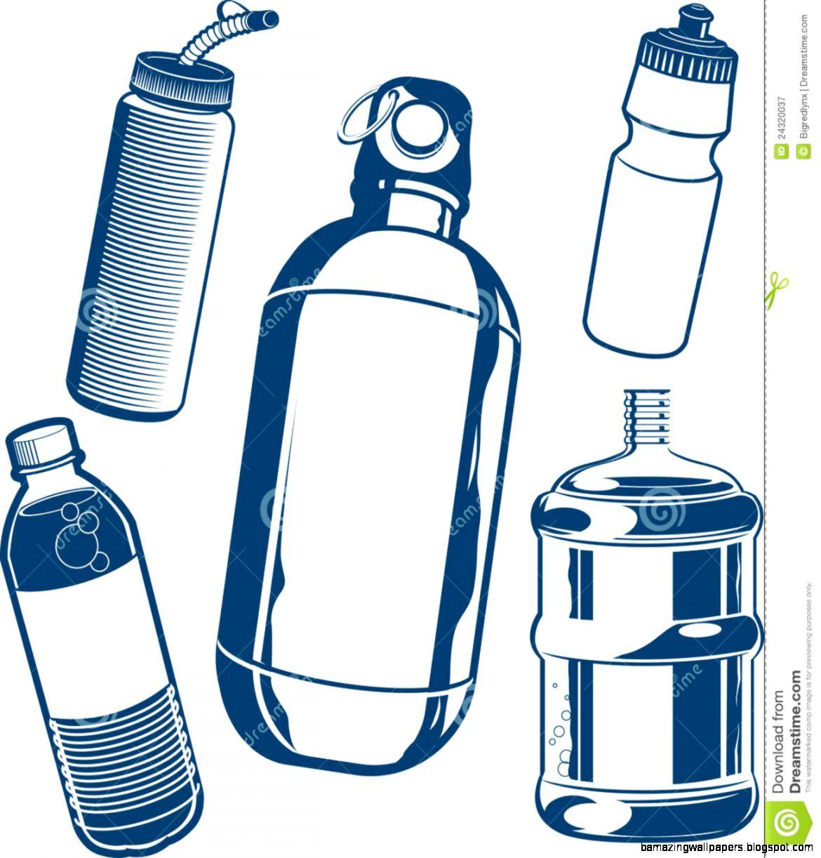 Water bottle coloring page water bottle coloring page clipart panda - View Original Size Reusable Water Bottle Clip Art