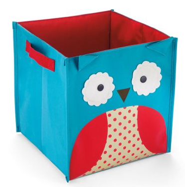 storage bin with picture of an owl