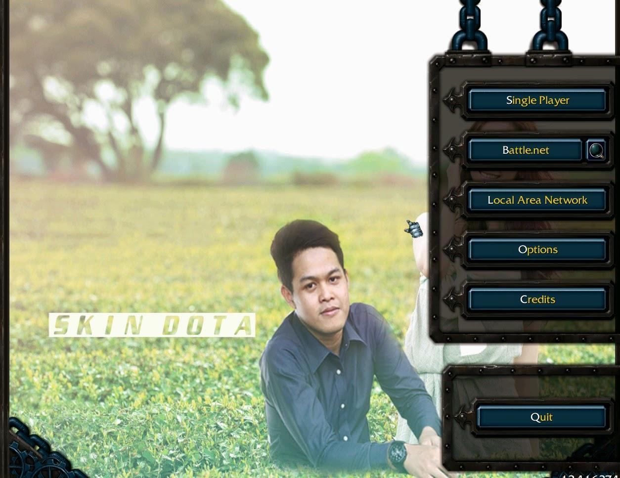 rubah gambar dan foto menjadi latar belakang game DOTA