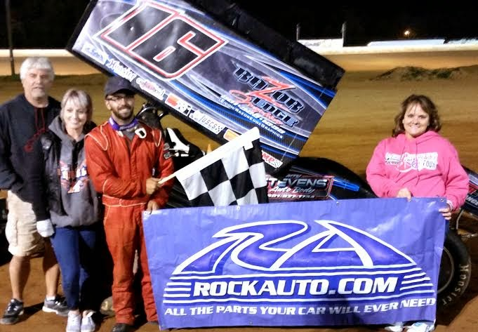 Anthony Nicholson raced to his 5th USCS presented by K&N Filters feature win of the season at Tennessee National Raceway on Saturday night.