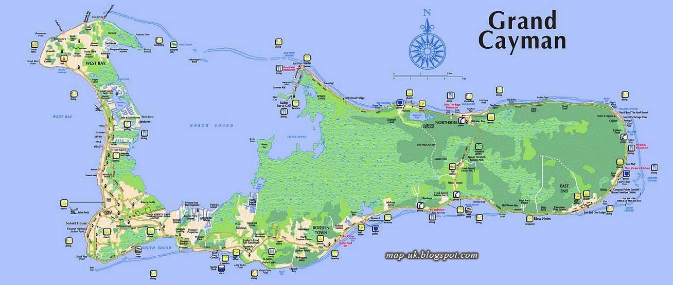 Map Of UK Cayman Islands Map Region Political Information - Cayman islands map