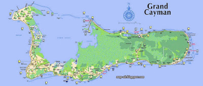 Cayman Islands Map Region Political