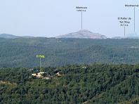 Zoom al sud-oest des de l'extrem sud del Castell de la Popa