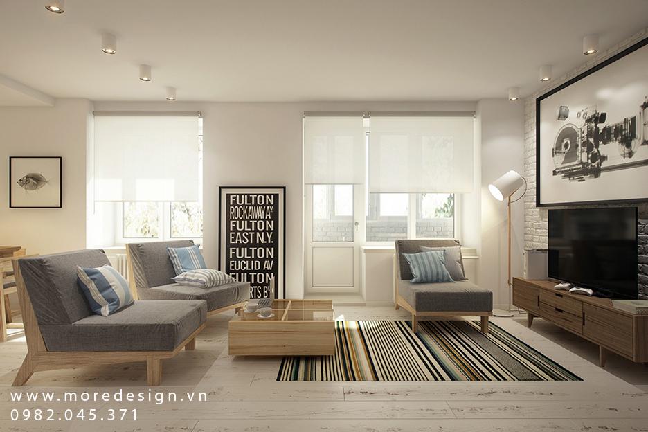Thiết kế nội thất căn hộ chung cư nhỏ đa năng