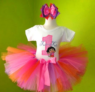 Dora The Explorer Number Birthday Tutu Set Outfit