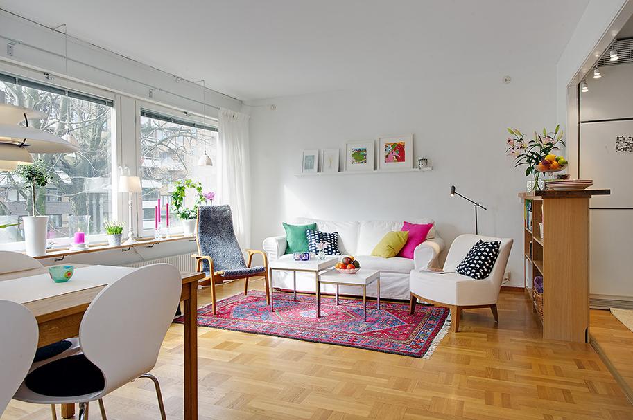 Un apartamento de 45m2 muy bien planificado boho deco chic for Apartamentos pequenos bien decorados