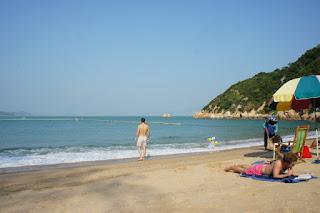 La spiaggia di Kwun Yam