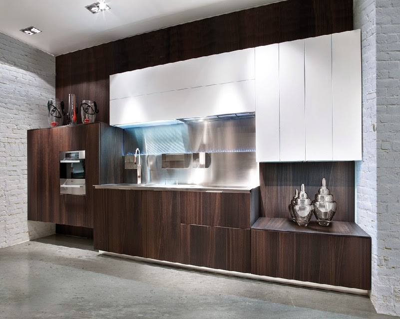 Minimalist kitchen design and style, modern brown kitchens 2015
