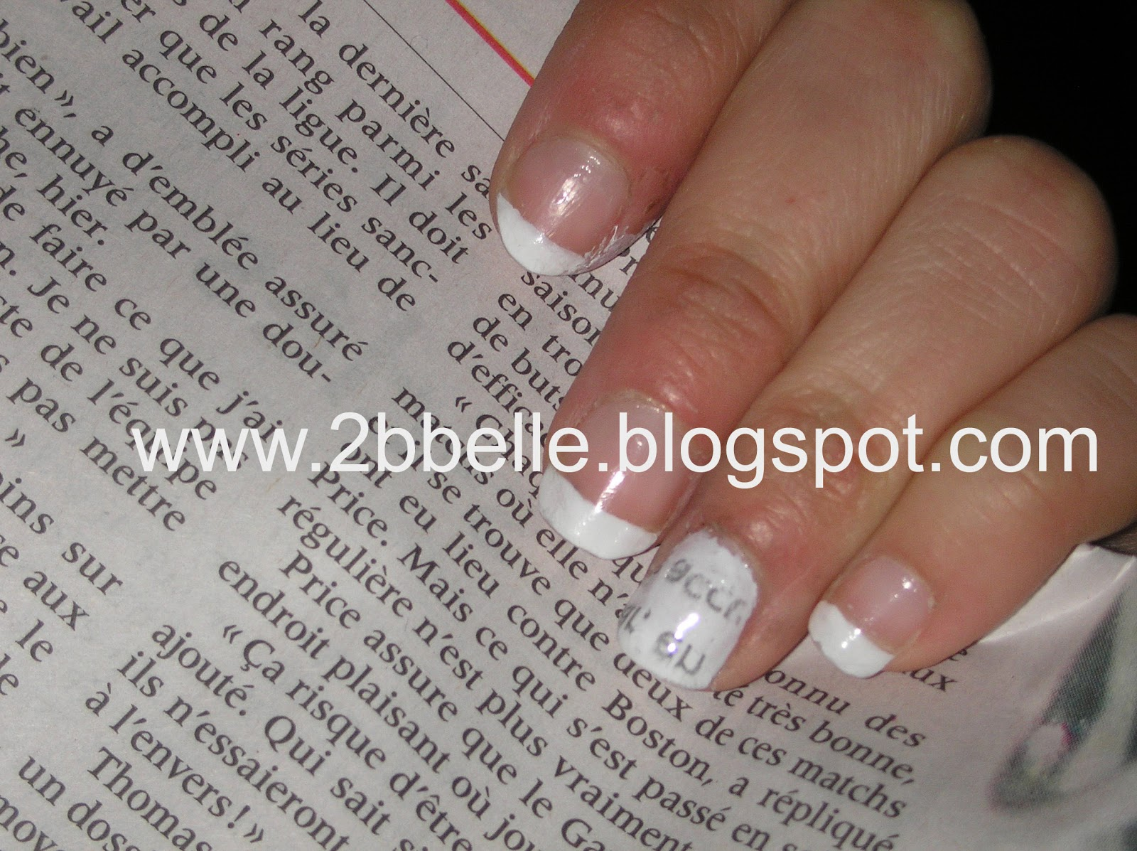 2 Be Belle: ~Newspaper Nails Art~