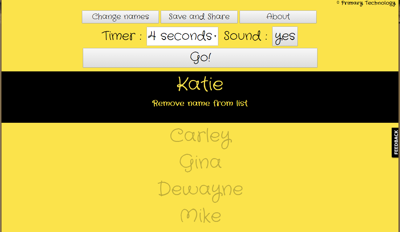 The Random Name Selector by