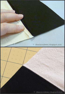 Secure seams with top stitch when sewing two fabrics together for zipper pouch