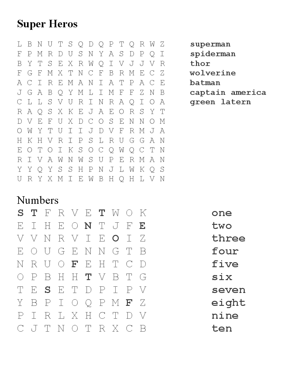 larissa another day project road trip word searches