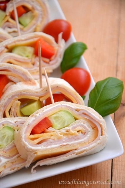 Przekąska z tortilli (Kanapki na imprezę)