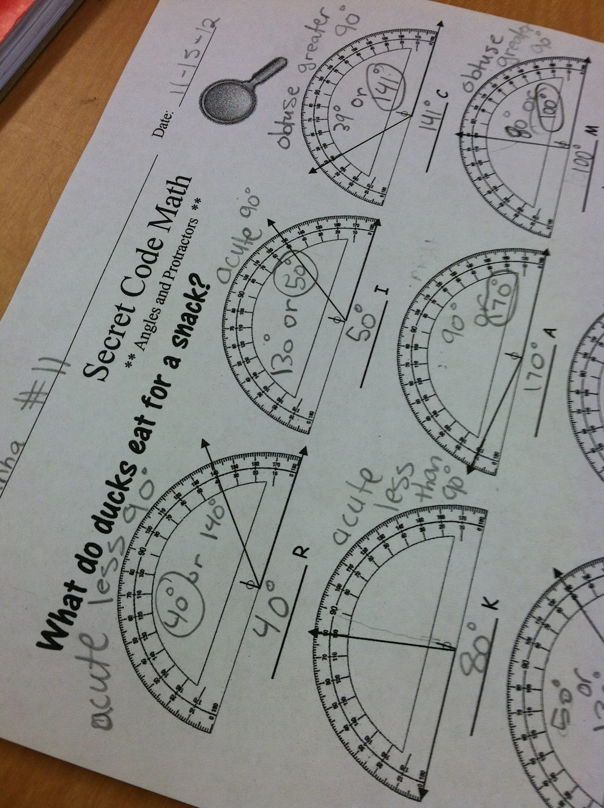 Using a Protractor - Teaching in Room 6