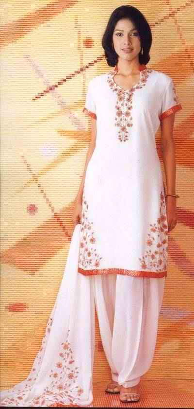 Hand Embroidered Salwar Kameez - Fashionzu